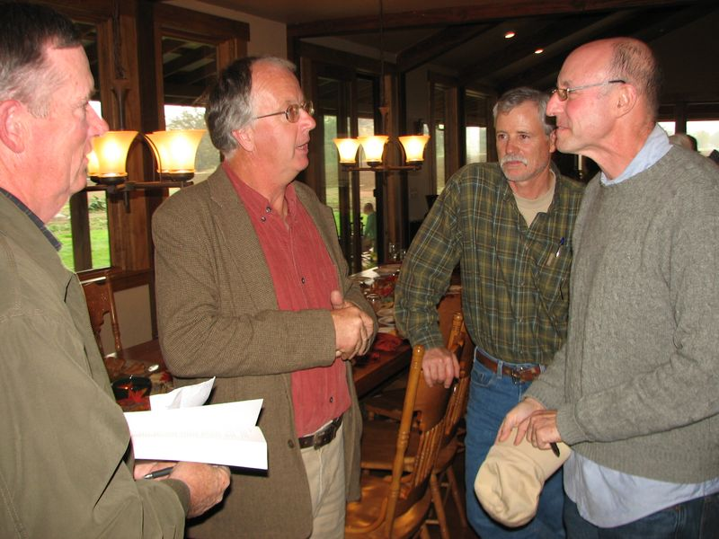 Nick Charles, Nigel Walker, Bruce Rominger & Michael Pollan